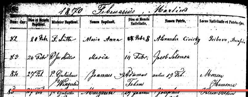Finding German Immigrant Town of Origin, Part 1: Record Types