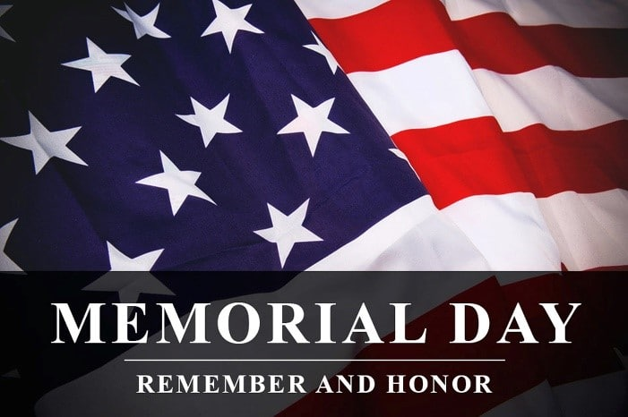Memorial Day Genealogy by popular US online genealogists, Price Genealogy: image of an American flag.