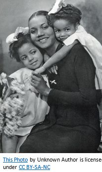 African American Genealogy by popular US online genealogists, Price Genealogy: image of a African American woman with her two daughters.