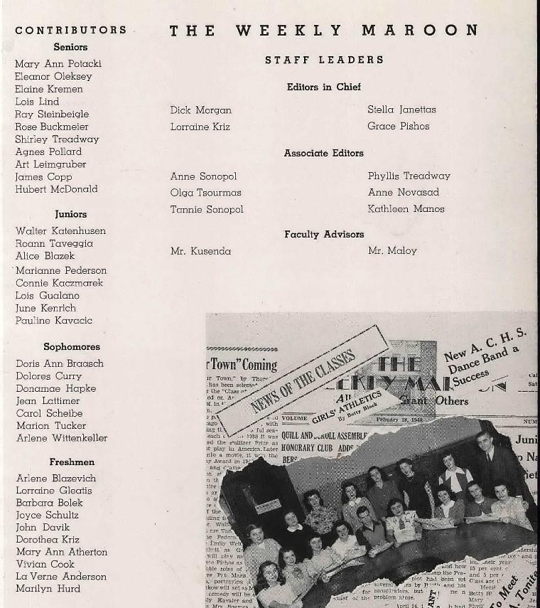 Genealogy Records by popular US online genealogist, Price Genealogy: digital image of The Weekly Maroon.