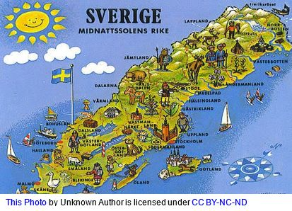 Swedish Maps by popular US online genealogists, Price Genealogy: image of a Swedish maps.