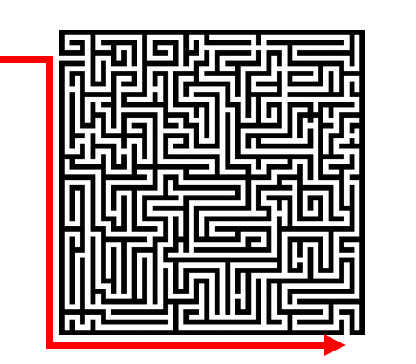 DNA Research by popular US online genealogists, Price Genealogy: digital image of a maze.