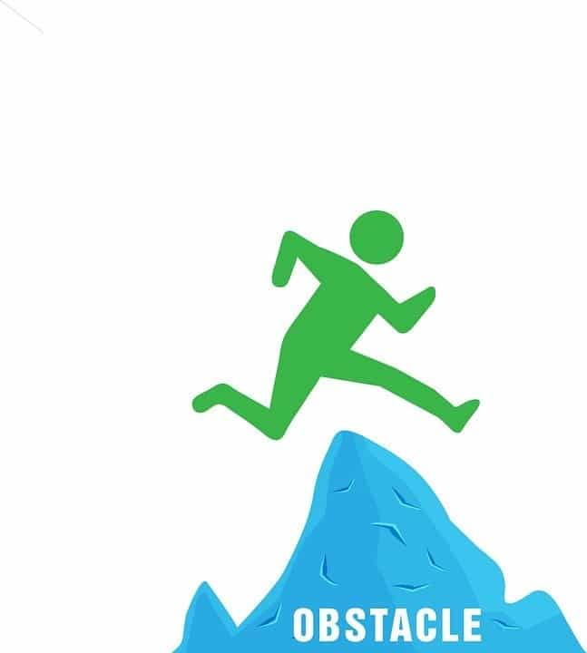 DNA Research by popular US online genealogists, Price Genealogy: digital image of a person jumping over a mountain.