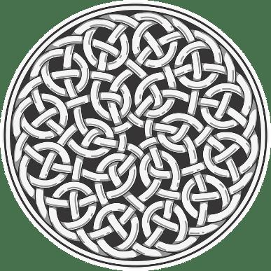 DNA Research by popular US online genealogists, Price Genealogy: digital image of a Celtic symbol.
