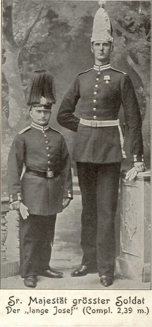 German Naming Customs by popular US online genealogists, Price Genealogy: black and white image of two German men standing together in traditional German army uniforms.