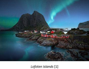 Homelands in Norway by popular US online genealogists, Price Genealogy: image of Lofoten Islands.