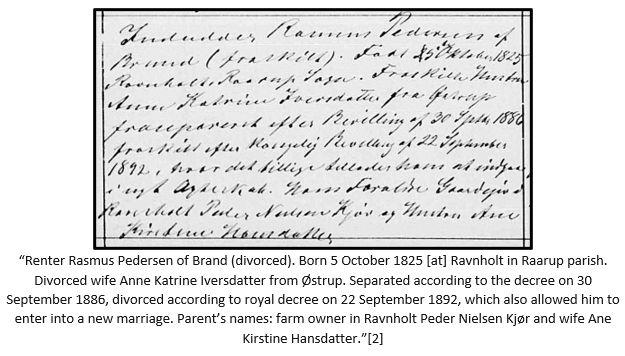 Danish Research by popular US online genealogists, Price Genealogy: image of a Danish divorce decree.