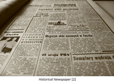 Danish Research by popular US online genealogist, Price Genealogy: image of a historical newspaper.