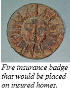 English Census Substitutes by popular US online genealogists, Price Genealogy: image of a fire insurance badge.