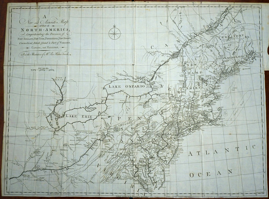 New England Genealogy by popular US online genealogists, Price Genealogy: image of a map of New England.