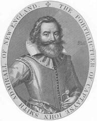 New England Genealogy by popular US online genealogists, Price Genealogy: black and white image of Captain John Smith.