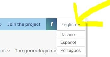 Italian Vital Records by popular US online genealogists, Price Genealogy: screenshot image of a webpage.