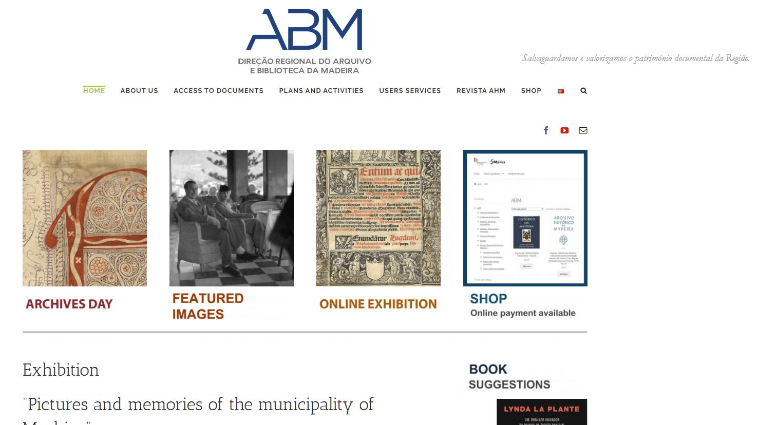 Madeira Archives by popular US online genealogists, Price Genealogy: screenshot image of a Spanish genealogy website.