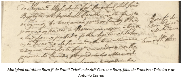 Madeira Research by popular US online genealogists, Price Genealogy: image of a Madeira document.