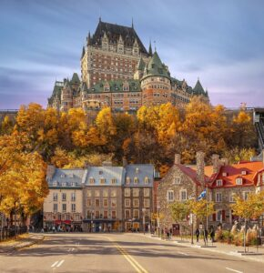 Canada Genealogy by popular US online genealogists: image of a French Canadian hotel.