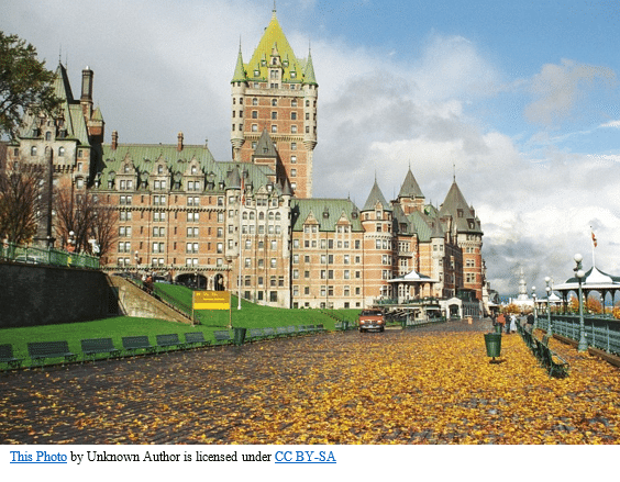 Canada Genealogy by popular US online genealogists, Price Genealogy: image of a Canadian hotel.