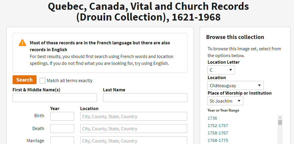 Tanguay Collection info shared by top online genealogists, Price Genealogy